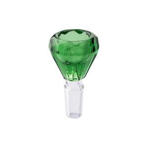 NC091 DHL Free Bright Colorful Glass Bong Bowls 10mm 14mm 18mm Male Colorful Bowls For Glass Water Pipes Glass Oil Rig Bongs