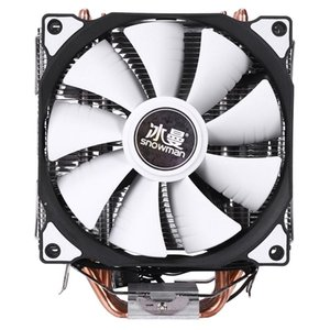 SNOWMAN M-T6 4PIN CPU Cooler Master 6 Heatpipe Double Fans 12cm Cooling Fan LGA775 1151 115X 1366 Support Intel AMD
