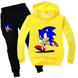 Sonic The Hedgehog Ropa Fall Girls Chicksuit Cool Kids Hoodies y Pants Family Boys Winter Clothing Set Boutique Outfits 201031