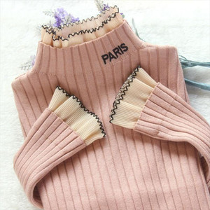 2020 New Autumn Winter Women Sweaters Pullovers Long Sleeve Casual Knitted Sweater Slim Jumpers Sweater Female Black White P311