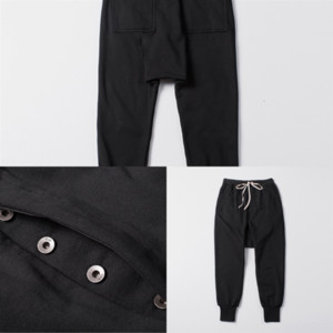 Calabasas ew color cremallera de pantalón coreano quinto casual diseñador casual lujo uh0np colección pista pantalones dios pantalones sujeciles miedo hombre lado m ixfn