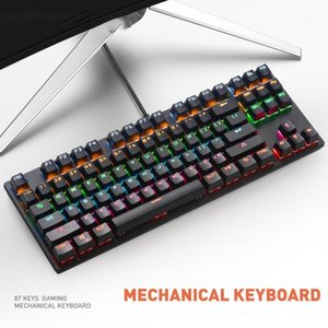 Mechanical Keyboard K70 Wired Colorful LED Light Gaming Games Mechanical Keyboard for Desktop Computers Green Shaft Accessories1