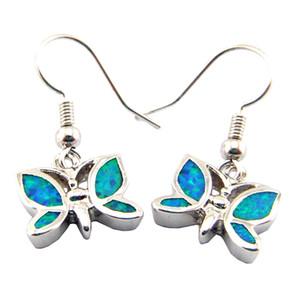 newest fashion opal earring Mexican Opal earrings 925 stamped butterfly earring