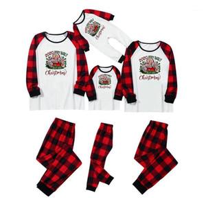 40# Christmas Family Clothes Set Fashion Adult Kids Pajamas Set Cotton Nightwear Sleepwear Red Pyjamas Matching Family Outfits1