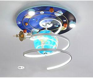 Cartoon Creative Space Star Teto Lâmpada Menino Quarto Children's Room Lâmpada Astronómica Globe Teto Lâmpada