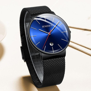TEENRAM Men's Sport Watches Men Wristwatches Male Quartz Watch montre homme Waterproof Stainless Steel Clock Fashion