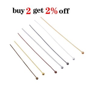 200pcs Lot 16 20 25 30 40 50 Mm Gold Metal Ball Head Pins For Diy Jewelry Making Head Pins Findings Dia F wmtojM