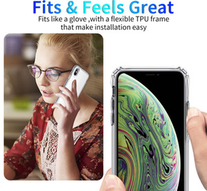 Luxury Shockproof Transparent Silicone Phone Case For iphone 6 6S 7 8 X XS 11 Pro MAX XR Plus 2020 TPU Clear Back Cover