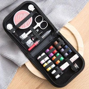 1 Set Portable Household Sewing Kit Box DIY Embroidery Handwork Tool Needles Thread Scissor Set Home Supplies Travel Accessories