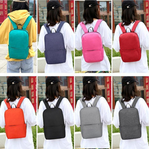 New Fashion Travel Bags Easy to Carry Casual Oxford Cloth Rucksack Solid Color Outdoor Travel Backpacks School Bags