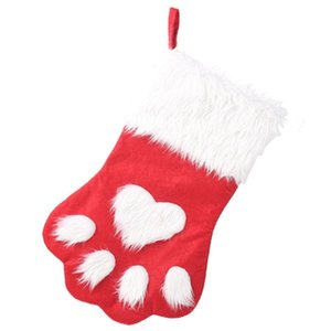 Pet Christmas Stockings Cat Dog Stocking Gift Bag for New Year Home Decor