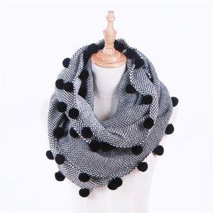 Winter fashion fur ball tassel scarf shawl for women and men warm scarf designer scarves 80*200cm 220g