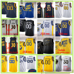 Personnalisé 20 21 Imprimé Andrew 22 Wiggins Stephen 30 Curry Klay 11 Thompson Draymond 23 Green Marquise Chriss Damion Lee Poole Jerseys