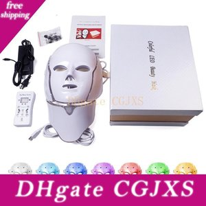 7 Colors Led Retail Mask Mask Led Korean Photon Therapy Acne Machine Light Box Face Beauty Neck Therapy With Facial Uogwc