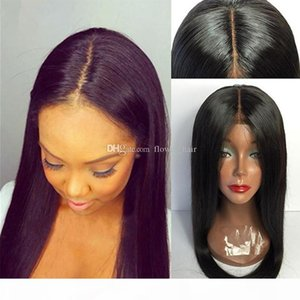 Human Hair Full lace 150 Density Silk Top Wigs Virgin Brazilian Silk Base Lace Wig Human Hair With Baby Hair Bleached Knots
