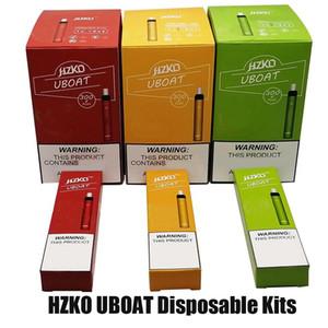 Authentic Hzko Uboat Dispositivo de vagem descartável 300 Puff 3ml PODs Prefilíficos 500mAh Bateria Vaia Vape Vape Kit Mais XXL Xtra Stick 100% Original