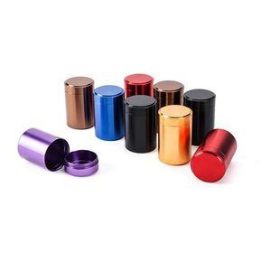 Recipiente de té aleación de titanio Mini cilindro sellado de té de té 70 * 45mm latas Coffee Tea Tetera Contenedor caja de almacenamiento 6 colores ZZY19