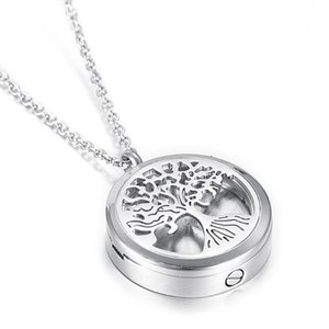 Outlet air conditioner aroma perfume Locket, Tree of Life Cremation Urn with Screw to Hold Ashes Keepsake Jewelry For Pet Human