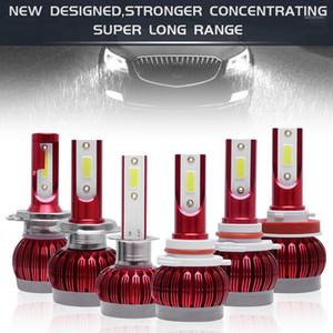 1pcs H1   H3   H4 H7 H8 H11 9005 9006 9012 72W 8000LM 6000K Fog Light Car LED Headlight IP68 Waterproof Fit for Car1