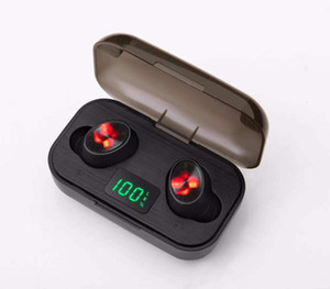 F6 tws wireless sports Bluetooth headset 5.0 LED number display large capacity wireless bluetooth 5.0 earphone in stock