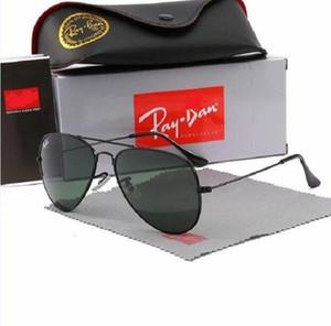 고품질의 새로운 레이 남자 여성 선글라스 빈티지 파일럿 브랜드 태양 안경 밴드 UV400 Ban Ben Sunglasses Box 및 Case R025