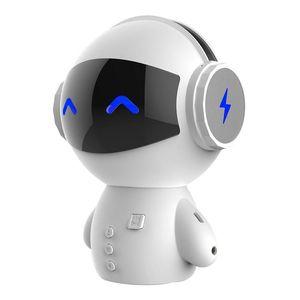 Robot de dibujos animados portátil Altavoces Bluetooth Altavoces de altavoz del palyer de música estéreo inalámbrico con función del banco de energía