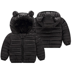 1 2 3 4 Years Baby Boys Girls Clothes Jackets Hooded Zipper Coat Autumn Winter Warm Fashion Outwear Jackets Children's Clothing