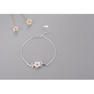 Moda Fresh Cherry Blossom Zircon Bracelet Y1218