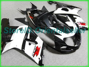 Custom white black AE049 fairing kit for SUZUKI GSXR 600 750 K1 2001 2002 2003 GSXR600 GSXR750 01 02 03 motorcycle fairings kit