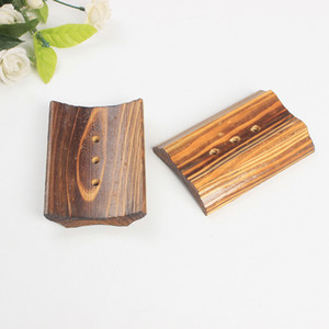 Black Color Wooden Soap Tray Bathroom Soap Holder Drain Water With 3 Holes Soap Dish Bath Accessories New Arrival 124 K2