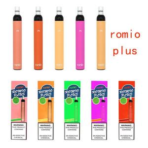 ROMIO PLUS monouso 18 colori 600puffs vape penna batteria preparata del dispositivo pre-riempito baccelli vuoti vapori monouso