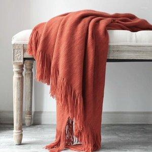 Tiro nórdico Blacket Soft Algodón Cashmere Crochet Manta de punto Sofá Sofá Cubierta Casa de cama Cama Mantas de invierno 130x200cm1
