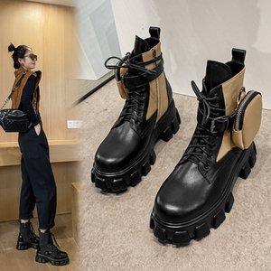 2020 Herbstschuhe Damen Leder Loath-Up Trend Aufbewahrung Kleine Objekte Space Package Sexy Ankle Boots O55g
