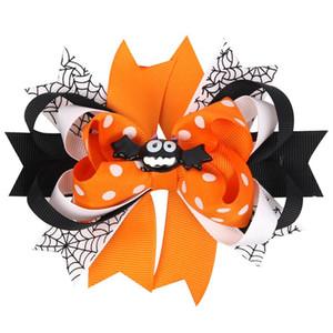 Cause Joyace 2020 Halloween Kids Hairpin Girls Hair Bow Bat Ghost Cartoon Hair Clip Fashion Party Headdress Accessories