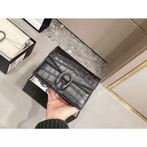 Top Snake Luxus Klassische Vintage Damen Krokodil Getreide Leder 20 cm Damen Handtasche Brieftasche Messenger Bag Mode Designer Kette Umhängetasche