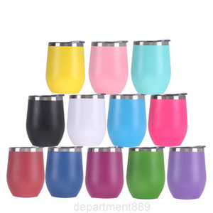 12oz Wine Tumbler Cup Stainless Steel Mugs Egg Shape Beer Cups Thicker Milk Water Bottle For Drinking