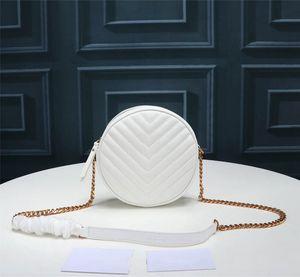 V-şekilli desen çanta crossbody vinyle moda zincir çanta lüks kapitone marka kadın yuvarlak tasarımcı omuz ücretsiz shippingfree shi uakkj