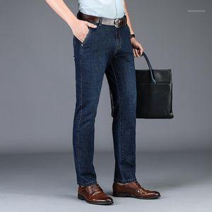Odinokov Pesado Pesado Longitud Integral Jeans Casuales 2020 Jeansdenim Regular Pantalones para hombre Hombre Slim Fit Cleden Mezcle Plancha1