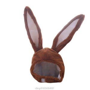 Cute Plush Eastern Ears Cap Mask Adult Kids Halloween Party Cosplay Animal Hood Hat Winter Warm Costume N25 20 Dropship
