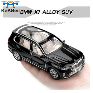1:32 BMW X7 Simulation Alloy Toy Cars Diecast Pull Back SUV Car Model Children Toys Off-road Vehicles Decorations Christmas Gift Z1124