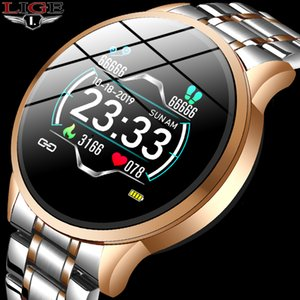 LIGE 2020 New Smart Watch Men Women Sports Watch LED screen Waterproof Fitness Tracker for Android ios Pedometer SmartWatch +Box