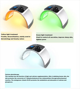 Skin Care Beauty Foldable 7 Color PDT Facial Mask Face Lamp Machine Photon Therapy LED Light Skin Rejuvenation Anti Wrinkle Skin Care Beaut