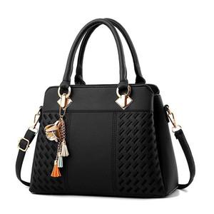 Mulheres Mulheres Borla Ornaments Totes Sólidos Bolsa De Bolsa De Pequeno Senhoras Casual Lantejoulas Mensageiro Crossbody Bags