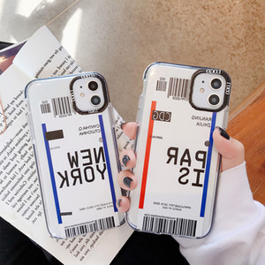 3sdINS personality ticket airplane soft TPU mobile phone case for iPhone 11 Pro XS MAX XR X 8 7 6S 6p Clear Boarding phone coverVIP