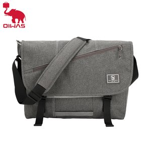 OIWAS 15 Inch Laptop Men Messenger Bags Fashion Business Travel Shoulder Bag Men's Canvas Briefcase Male Crossbody Bag Handbag