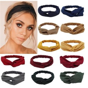 Gamuza gamuza turbante mujer arcos de pelo elástico Headkerchief Deporte Hairbands Head Band Nudo Diadema para niñas Headwear Headwrap