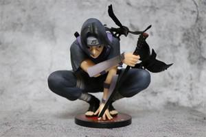 PVC 18cm Brinquedos Naruto Figuras Dark Itachi Uchiha Akatsuki Modelo Toy Garage Kits
