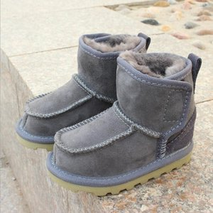 Geanuine Leather Australia Shoes Baby Snow Boots for boys and girls Kids Snow Boots Sheepskin Real Fur Shoes Children 2020 new Y1117