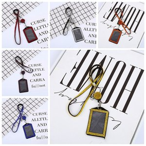 Keychain cell phone case ID Badge Rhinestone Bling Lanyard Crystal Diamond necklace keychain for women phone and key accessories YHM64-1
