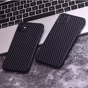 Carbon Fiber Sticker Back Vinyl Wrap for IPhone 11 Pro Max X XS MAX XR 8 7 6 6s Plus Skin Decal Stickers Black with Box 200pcsBox